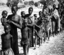 Maclean's magazine photo of a line of slaves (Sudan)